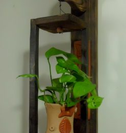 Wooden Hanging Vessel